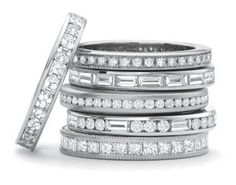 stackable eternity rings- I want one to wear for each of my kids