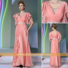chic v-neck long formal prom dresses 2014 with new fashion ,elegant long bridesmaid dresses 2014 with new fashion
