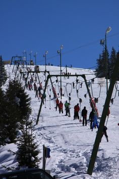 Mountain Ski Lift, Ski Resort - Public Domain Photos, Free Images for Commercial Use Ski Lift, Public Domain, Romania, Free Images, C & A, Skiing, Snow Travel, Sky, Travel Trailers