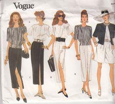 Vintage 90s UNCUT EASY VOGUE Jacket Dress Top by HoneymoonBus, $11.99