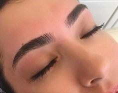 Round Eyebrows, Mircoblading Eyebrows, Eyebrows Goals, Thick Brows, Natural Eyebrows, Eyelashes, Eyebrow Makeup Tips, Smokey Eye Makeup, Thick Eyebrow Shapes
