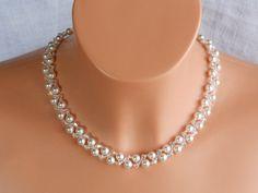 Wedding Jewellery – Swarovski Crystal,Pearl Bridal Necklace. Necklace – a unique product by akcrystalbead on DaWanda