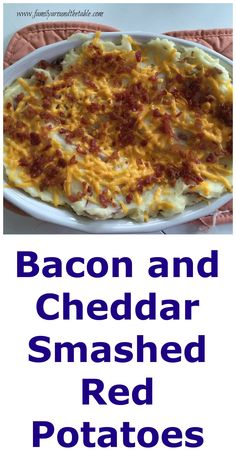 Bacon and Cheddar Smashed Red Potatoes #SundaySupper