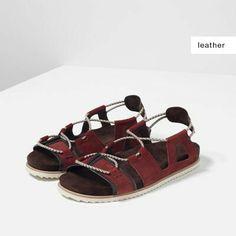 Leather Sandals, Shoes Sandals, Man Shoes, Shoes Online, Collection, Zara,  Cords, Fur, Mens Walking Shoes