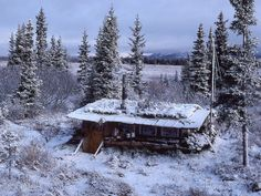 """""""Little House on the Tundra"""" along the Kobuk River, Alaska. Submitted by Zan Crawkenna."""