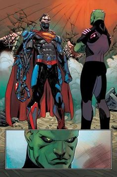 Cyborg Superman and Brainiac