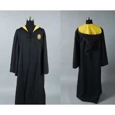 Cosplay Harry Potter Harry Potter Hufflepuff of Hogwarts Robe Costume Black Halloween Costumes, Harry Potter Halloween Costumes, Black Costume, Harry Potter Robes, Harry Potter Cosplay, Harry Potter Outfits, Hogwarts Costume, Hogwarts Robes, Cosplay Ideas