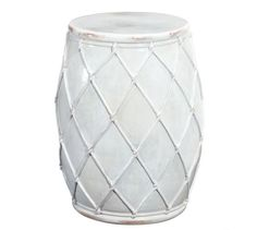 """Net Ceramic Accent Table  DIMENSIONS Overall: 15"""" diameter, 20"""" high Weight: 45 pounds"""