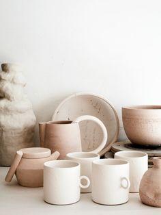 Sur cette photo j'aime : * la céramique en grès clair et irrégulière