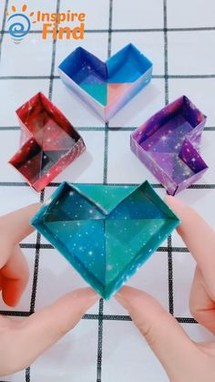 Origami Diy Crane Paper Crafts for Kids & Adults Sheets, 6 Inch) - Buy Today Get Up Discount Diy Crafts Hacks, Diy Crafts For Gifts, Easy Diy Crafts, Diy Projects, Creative Crafts, Instruções Origami, Paper Crafts Origami, Origami Videos, Easy Origami Box