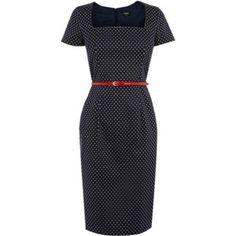 Polkadot dress for the spring work wardrobe