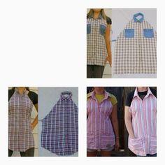 Faça você mesmo avental de camisa velha - Artesanato na Prática