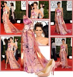 """""""2013 Golden Globes~ Halle Berry"""" by snugget9530 ❤ liked on Polyvore"""