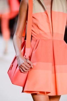 Dart and pleat detail. Akris Spring 2013