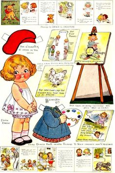 Dolly Dingle and her art projects... paper dolls