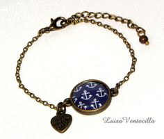 Armband mit Cabochon von Luisa Ventocilla Shop auf DaWanda.com
