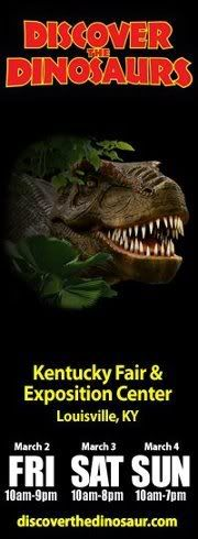 Discover the Dinosaurs at the Kentucky Exposition Center!