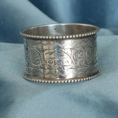English Silver Napkin Ring by SilverMagpies on Etsy, $90.00