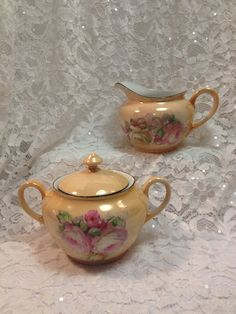 Vintage P.A.L.T. Bone China Peach Lusterware by TheRainyDayShop