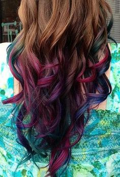 Temporary Hair Color - Get the Dip Dye Look with Colored Gel - Single Use, Washes Out Easy. $4.50, via Etsy.