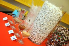 You could offer popcorn flavoring add in's like chocolates & candy pearls, sugar & cinnamon, spicy seasoning, cheddar cheese flavoring, etc.