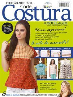 Artesanato - Tecidos - Corte Costura : COL ARTE FACIL CORTE COSTURA E MODELAGEM 002 - Editora Minuano