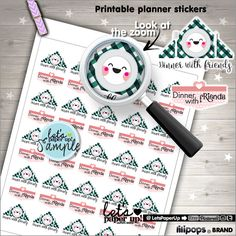 60%OFF - Dinner with friends, Stickers, Printable Planner Stickers, Kawaii Sticker, Planner Accessories, Dinner Stickers, Functional Sticker