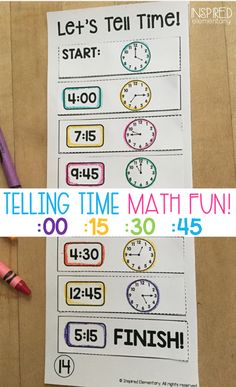 Telling Time Math Center - Time to the hour, time to the half-hour, & time to the quarter hour are all practiced in these hands-on math puzzles. Solve It Strips are NO PREP and a perfect early-finisher math activity or to use during guided math.