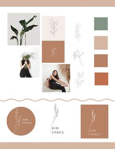 The rustic illustrations and modern floral sketches are perfect for a feminine brand or logo design. love the earthy red color palette as well! Earthy Color Palette, Colour Pallette, Colour Schemes, Web Design, Graphic Design Inspiration, Color Inspiration, Deco Floral, Brand Board, Style Guides