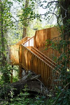 After years of weathering and disrepair, this two-storey timber viewing platform was revamped by Charles Cunniffe Architects.