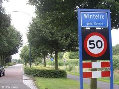 Plaatsnamen - Wintelre Name Boards, Place Names, Eindhoven, Chicago Cubs Logo, Team Logo, Netherlands, Logos, Places, The Nederlands