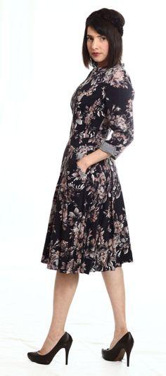 Romantic floral Anna dress by TAMAR LANDAU #modest chic