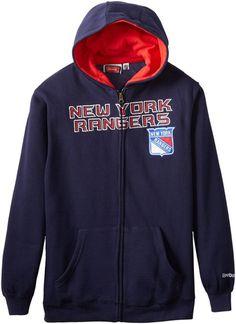 eb288cd73 NHL New York Rangers Boys Youth Zip Up Hoodie Hockey Sweatshirts