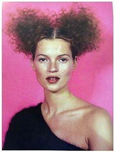 Kate Moss shot by Craig McDean for Harper's  Bazaar November 1996 (outtake)   Fashion Editor Melanie Ward   Hair Eugene Souleiman   Make-up Pat McGrath.