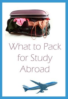 This blogger has great tips for packing before studying abroad