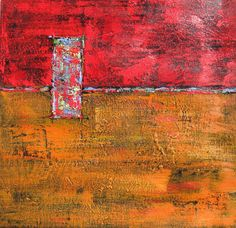Abstract Art Acrylic Burnt Orange and Red Painting by BrookeHowie, $250.00