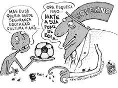 Chargista Cearense Newton Silva: A FOME
