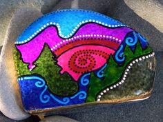 Peace at Twilight / Painted Rock/ Sandi Pike Foundas /Cape Cod. $48.00, via Etsy.