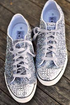 Accessories by ana9112.  glitter converse.  LOVE. @Daniella Garcia Garcia Petrovich  your bridesmaid shoes?!