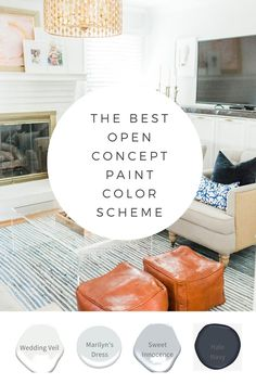 Kitchen Paint Colors, Paint Colors For Living Room, Paint Colors For Home, House Colors, Neutral Paint Colors, Paint Color Schemes, Interior Paint Colors, Open Concept Home, Open Concept Kitchen