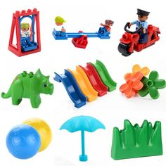 Big Size Diy Building Blocks Swing Dinosaurs Figures Animal Accessories Toys For Children Compatible With Legoingly Duplo Brick TEAEGG Big Size Diy Building Blocks Swing Dinosaurs Kids & Baby - Toys Baby Toys, Kids Toys, Certificate Model, Tea Eggs, Toy Store, Pet Accessories, Kids Playing