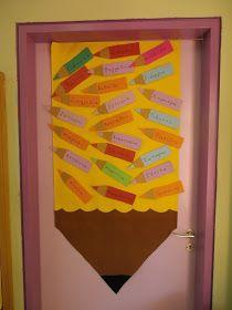 Beautiful door decoration for the new year! Back To School Bulletin Boards, Preschool Bulletin Boards, Kindergarten Classroom, Classroom Displays, Classroom Themes, Classroom Organization, I Love School, First Day School, School Door Decorations