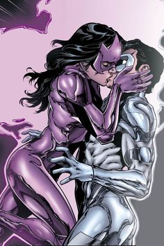 Star Sapphire Carol Ferris & White Lantern Kyle Rayner in Green Lantern: New Guardians #33 - Art by Brad Walker, Diogenes Neves, Andrew Hennessy, Marc Deering, & Michelle Madsen