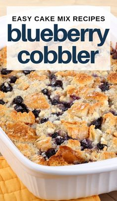 Low Unwanted Fat Cooking For Weightloss This Blueberry Cake Mix Cobbler Recipe Is A Favorite Of My Easy Cake Mix Recipes Eaten Almost Right Out Of The Oven And It Makes The Entire House Smell So Delicious Blueberry Cobbler Recipes, Blueberry Dump Cakes, Blueberry Desserts, Blueberry Muffin Cake Mix Recipe, Blueberry Recipes Using Cake Mix, Blackberry Cobbler, Cake Mix Cobbler, Fruit Cobbler, Cake Mix Desserts