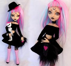 Your place to buy and sell all things handmade Monster High Clothes, Custom Monster High Dolls, Monster High Repaint, Custom Dolls, Ooak Dolls, Blythe Dolls, Cute Skeleton, Yarn Wig, Monster High Dolls