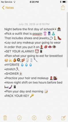 Before School Routine, School Routine For Teens, Night Before School, Morning Routine School, Night School, School Routines, Night Night, Middle School Hacks, Middle School Outfits