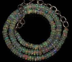 """42 Crts 1 Nacklace 4 to 5 mm 13"""" Beads necklace Ethiopian Welo Opal  AA+++412"""