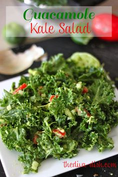 Guacamole Kale Salad! If you have ever been scared to try kale...this will change everything! :)