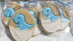 Baby Dinosaur Cookies 1 Dozen by PetesCustomCookies on Etsy, $25.00