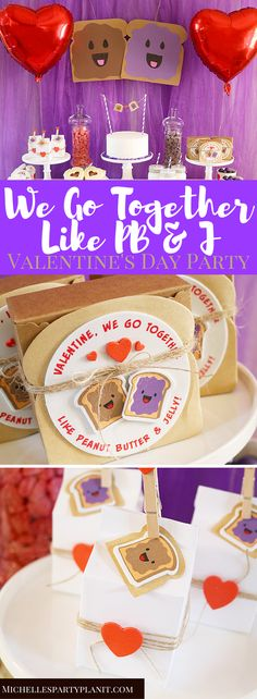 We Go Together Like PB & J Valentine's Day Party - Michelle's Party Plan-It
